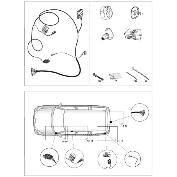 faisceau specifique 13 broches pour peugeot 3008 15873. Black Bedroom Furniture Sets. Home Design Ideas