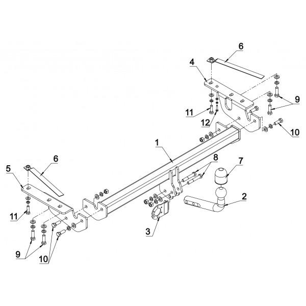 attelage toyota corolla verso col de cygne 17157. Black Bedroom Furniture Sets. Home Design Ideas