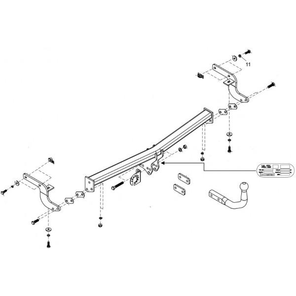 attelage peugeot 207 cc col de cygne faisceau universel multiplex 7 broches 22577. Black Bedroom Furniture Sets. Home Design Ideas