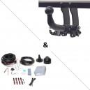 Attelage BMW X5 E70 y compris Pack M (01/07-10/13) RDSOH + faisceau universel 7 broches + boitier électronique