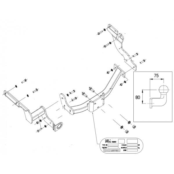 attelage ford transit connect standard 8377. Black Bedroom Furniture Sets. Home Design Ideas