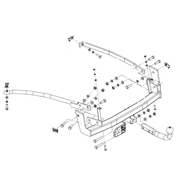 attelage peugeot 807 col de cygne faisceau universel multiplex 7 broches 4007. Black Bedroom Furniture Sets. Home Design Ideas
