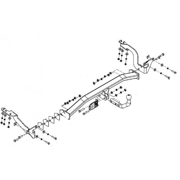 attelage citroen c4 picasso col de cygne faisceau universel multiplex 7 broches 3917