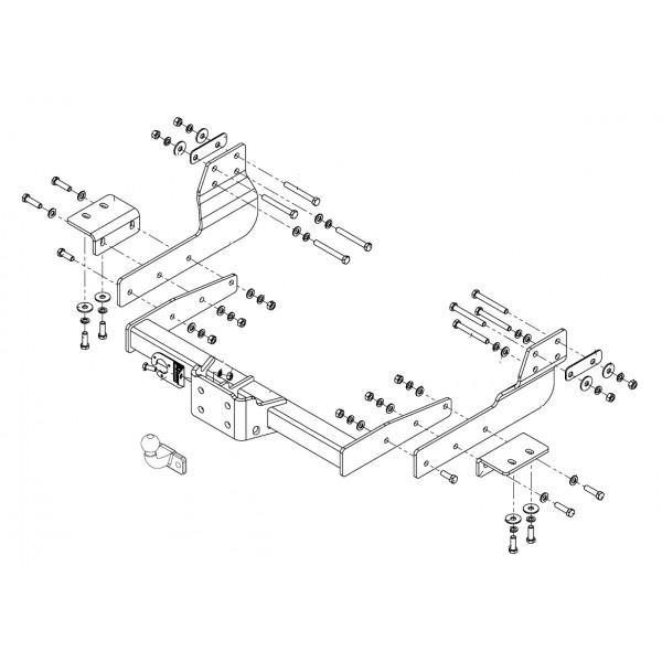 attelage ford transit 2t 9386. Black Bedroom Furniture Sets. Home Design Ideas