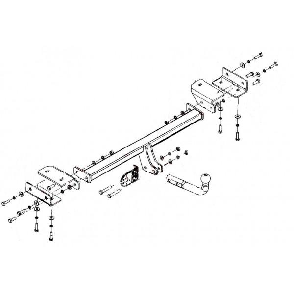 attelage kia sportage col de cygne faisceau universel multiplex 7 broches 3928. Black Bedroom Furniture Sets. Home Design Ideas