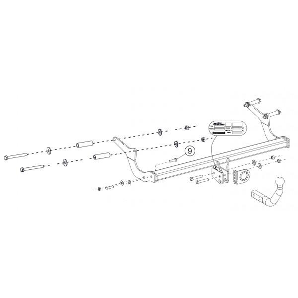 04//13- Col de Cygne Bosal Oris Attelage Renault Captur Faisceau Universel 7 Broches boitier /électronique