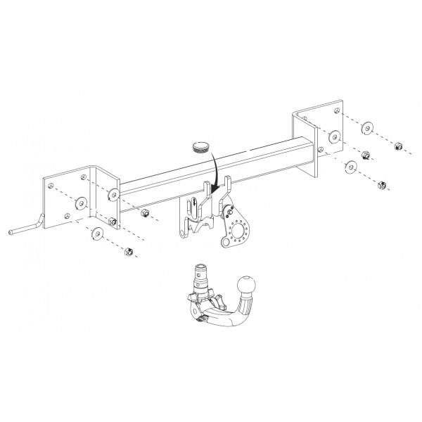 attelage bmw s rie 3 break rdsov 9116. Black Bedroom Furniture Sets. Home Design Ideas