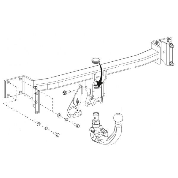 attelage bmw s rie 5 break rdsov 9891. Black Bedroom Furniture Sets. Home Design Ideas