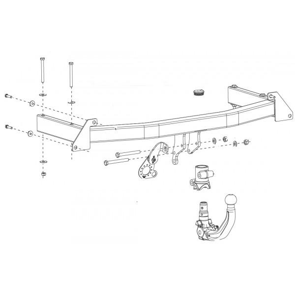 attelage audi a4 berline rdsov faisceau universel 7. Black Bedroom Furniture Sets. Home Design Ideas