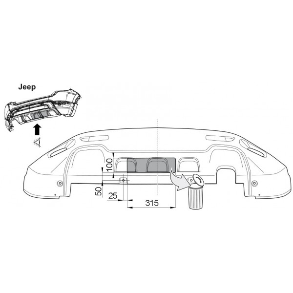 attelage jeep renegade rotule verticale 9563. Black Bedroom Furniture Sets. Home Design Ideas