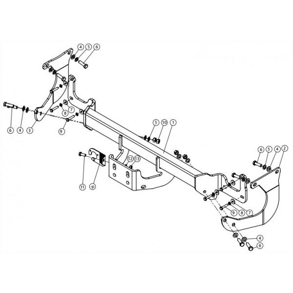 attelage peugeot expert standard 14734. Black Bedroom Furniture Sets. Home Design Ideas