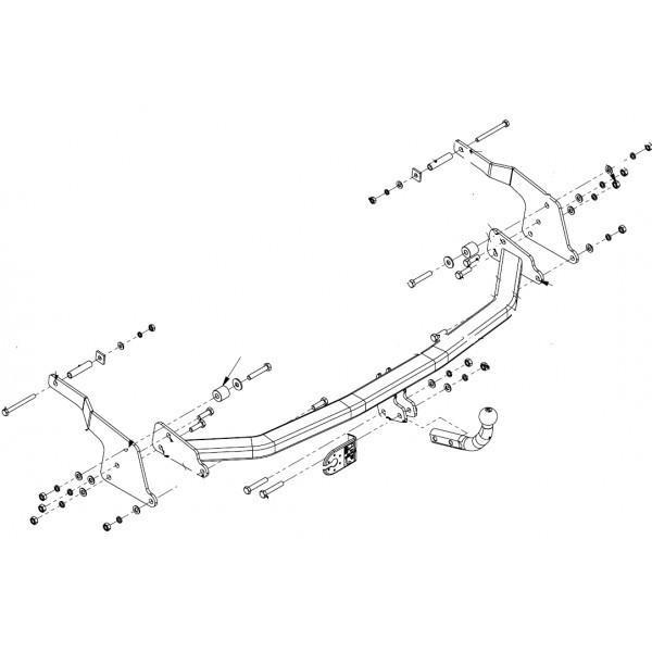 attelage renault espace col de cygne faisceau universel 7 broches 11133. Black Bedroom Furniture Sets. Home Design Ideas