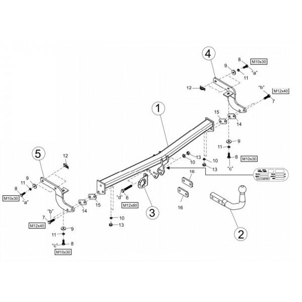attelage peugeot 207 plus col de cygne faisceau universel multiplex 7 broches 15638. Black Bedroom Furniture Sets. Home Design Ideas