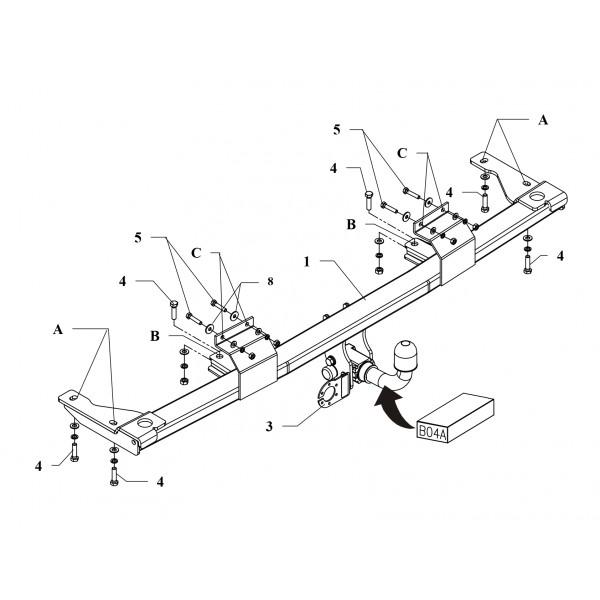 attelage bmw serie 5 break rdsoh 16382. Black Bedroom Furniture Sets. Home Design Ideas