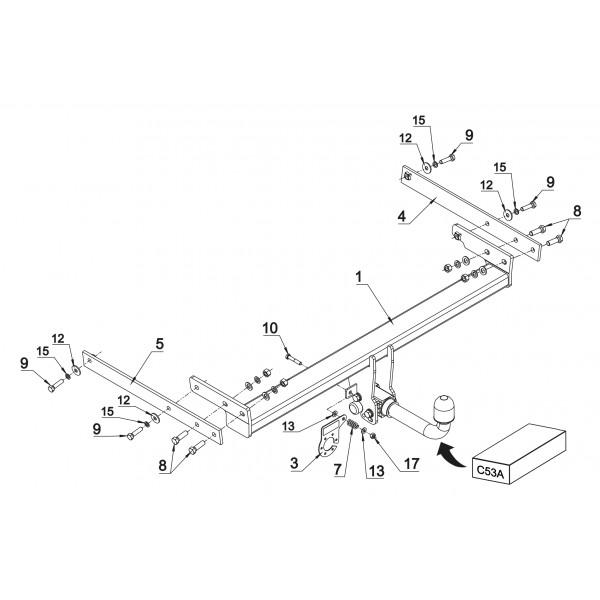 attelage ford kuga rdsoh 16715. Black Bedroom Furniture Sets. Home Design Ideas