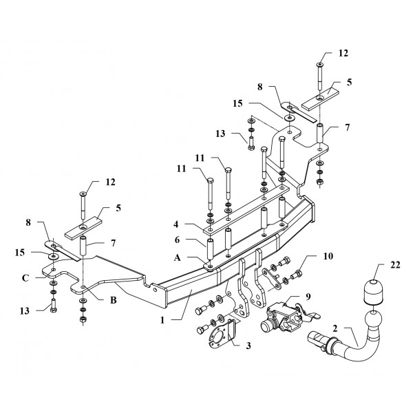 attelage alfa romeo 159 rdsoh 17742. Black Bedroom Furniture Sets. Home Design Ideas