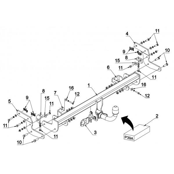 attelage citroen c4 cactus rdsoh 18221. Black Bedroom Furniture Sets. Home Design Ideas
