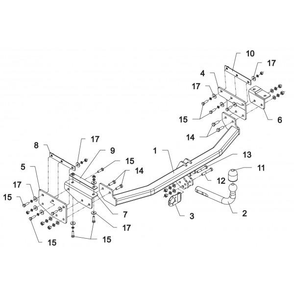 attelage renault koleos col de cygne 16096. Black Bedroom Furniture Sets. Home Design Ideas