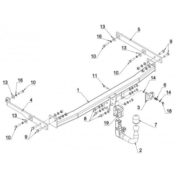 attelage renault scenic 3 rdsov 16114. Black Bedroom Furniture Sets. Home Design Ideas