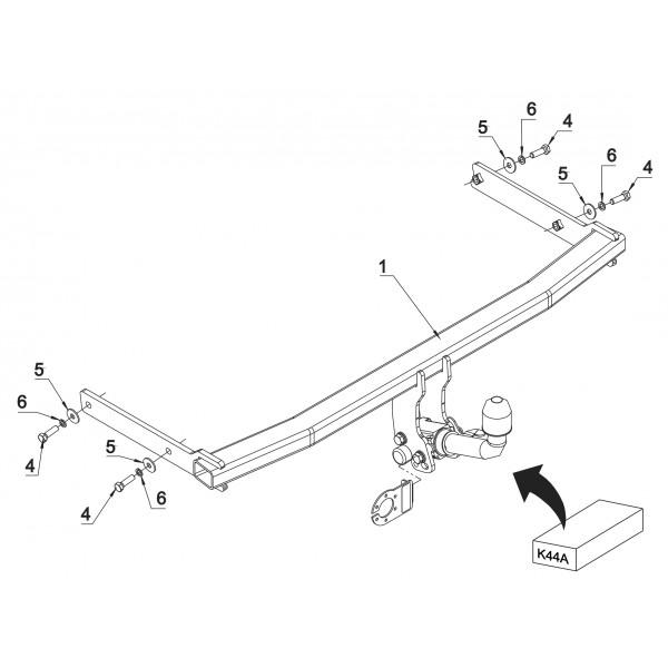 attelage vw golf 6 et 6 plus rdsoh 16291. Black Bedroom Furniture Sets. Home Design Ideas