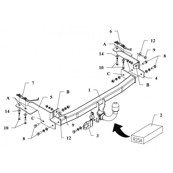 attelage fiat punto rdsoh 16591. Black Bedroom Furniture Sets. Home Design Ideas