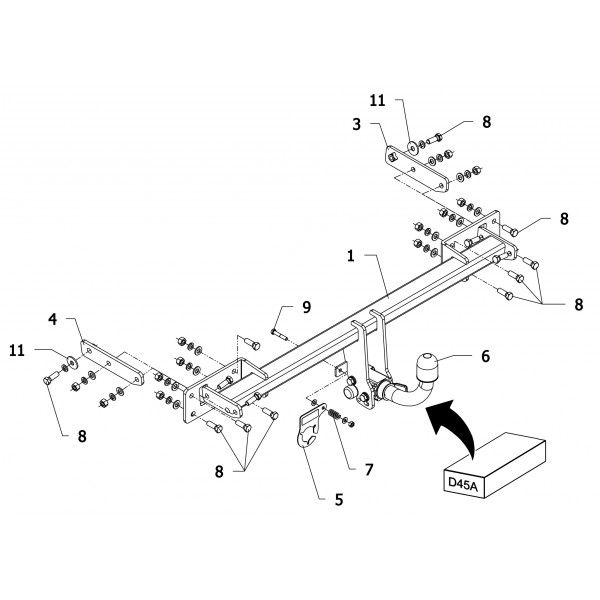 attelage mercedes classe b rdsoh 18495. Black Bedroom Furniture Sets. Home Design Ideas