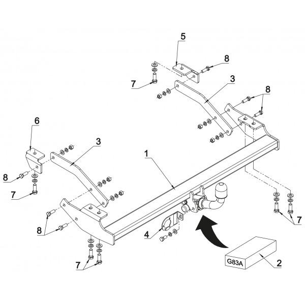 attelage renault trafic 3 rdsoh 18325. Black Bedroom Furniture Sets. Home Design Ideas
