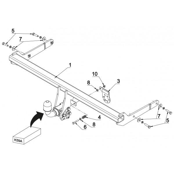 attelage vw golf 7 rdsoh 18530. Black Bedroom Furniture Sets. Home Design Ideas