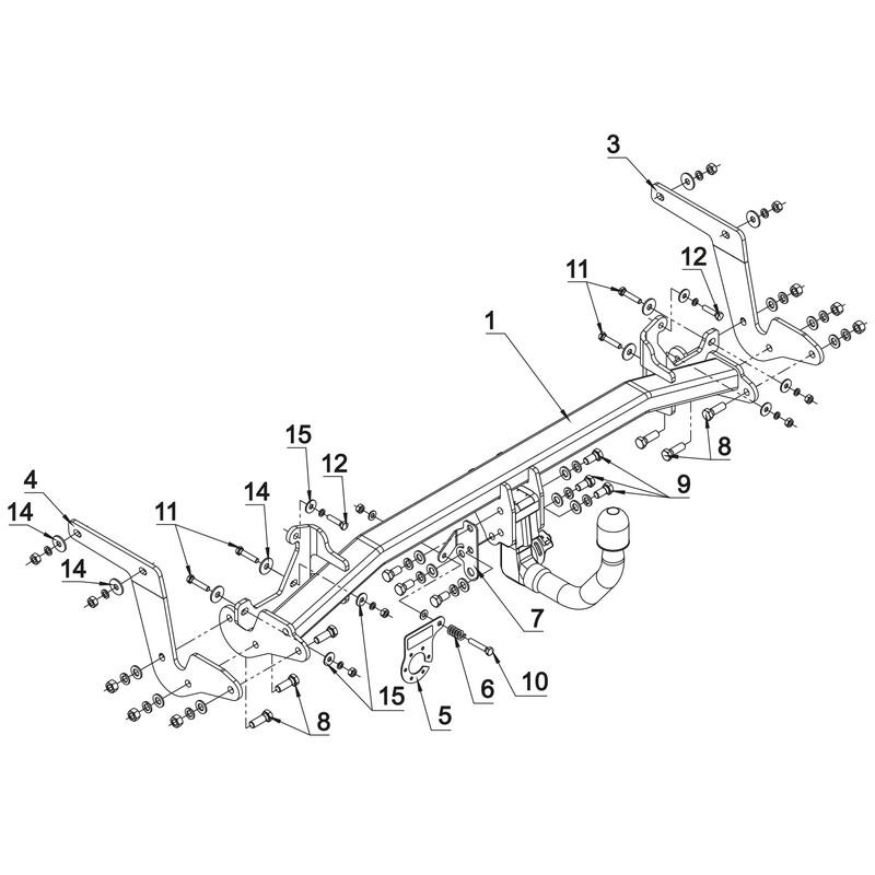 144268-11791-1-FR Faisceau 7 Broches Rameder Attelage rotule d/émontable pour Peugeot 308 SW II