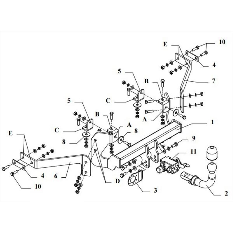 130304-00205-1-FR Faisceau 7 Broches Rameder Attelage d/émontable avec Outil pour Peugeot 205 II
