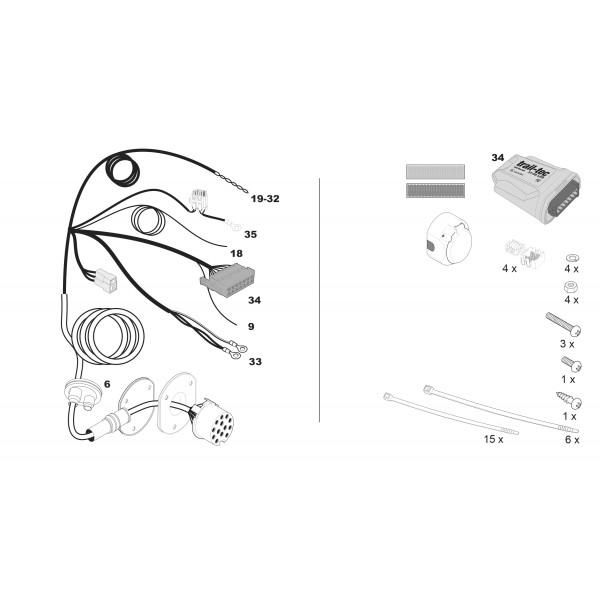 faisceau specifique 13 broches pour bmw x3 18981. Black Bedroom Furniture Sets. Home Design Ideas