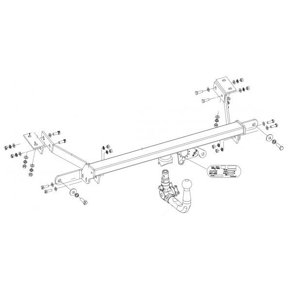 attelage peugeot partner rdsov faisceau universel multiplex 7 broches 22375. Black Bedroom Furniture Sets. Home Design Ideas