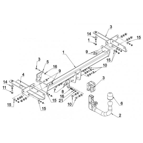 attelage fiat 500l rdsov faisceau universel multiplex 7 broches 22532. Black Bedroom Furniture Sets. Home Design Ideas