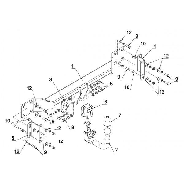 attelage bmw serie 5 break rdsov faisceau universel. Black Bedroom Furniture Sets. Home Design Ideas