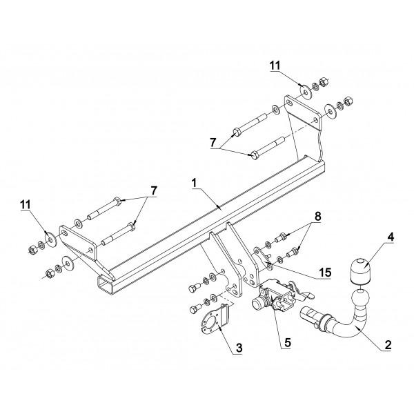 attelage dodge caliber rdsoh faisceau universel multiplex 7 broches 22625. Black Bedroom Furniture Sets. Home Design Ideas