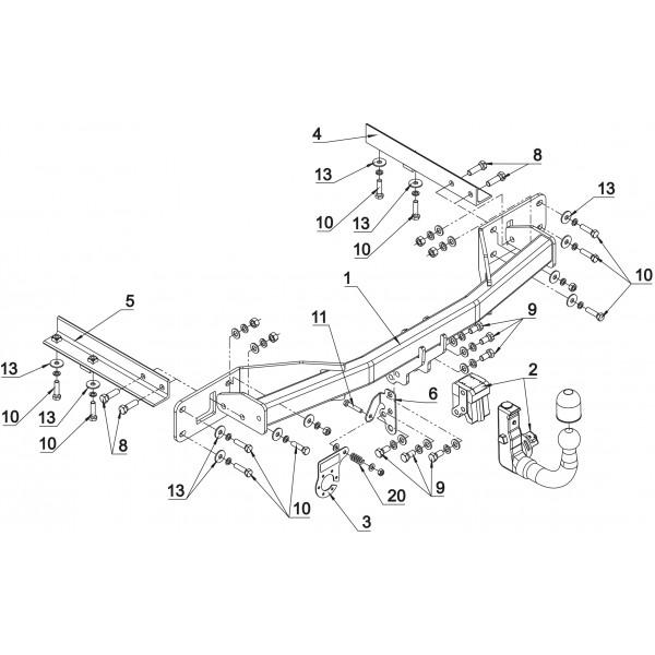 Attelage Opel Meriva Rdsov Faisceau Universel Multiplex 7 Broches