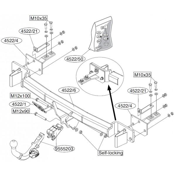 attelage bmw serie 5 break rdsod faisceau universel. Black Bedroom Furniture Sets. Home Design Ideas
