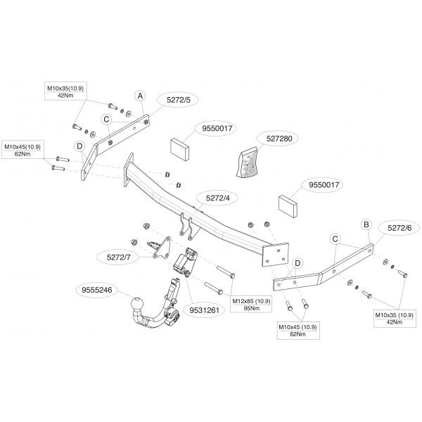 attelage volkswagen golf 6 break rdsod 21100. Black Bedroom Furniture Sets. Home Design Ideas