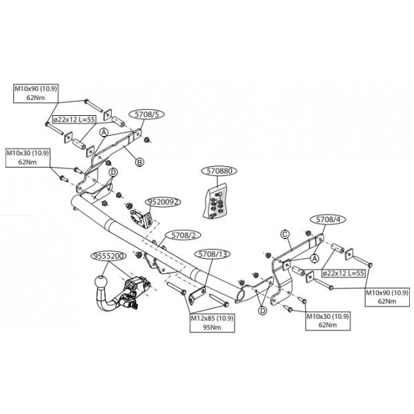 attelage dacia sandero stepway rdsod 23261. Black Bedroom Furniture Sets. Home Design Ideas