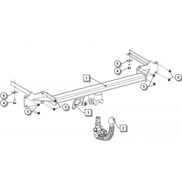attelage ford transit connect    tourneo connect rdsov   faisceau universel multiplex u00e9 7 broches