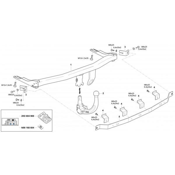 attelage volkswagen caddy    caddy maxi rdsov   faisceau universel multiplex u00e9 7 broches 23870