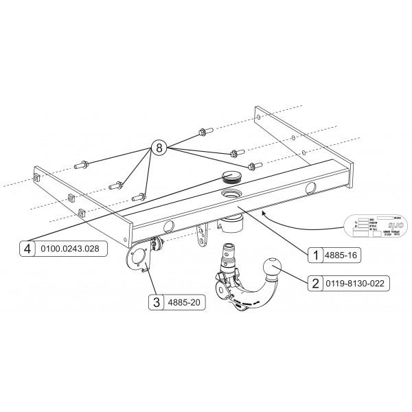 attelage vw transporter t6 rdsov faisceau universel multiplex 7 broches 22570. Black Bedroom Furniture Sets. Home Design Ideas