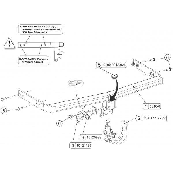 attelage vw golf 4 break rdsov faisceau universel 7. Black Bedroom Furniture Sets. Home Design Ideas
