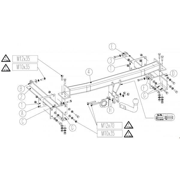 attelage mercedes classe e coupe col de cygne faisceau universel multiplex 7 broches 23537. Black Bedroom Furniture Sets. Home Design Ideas