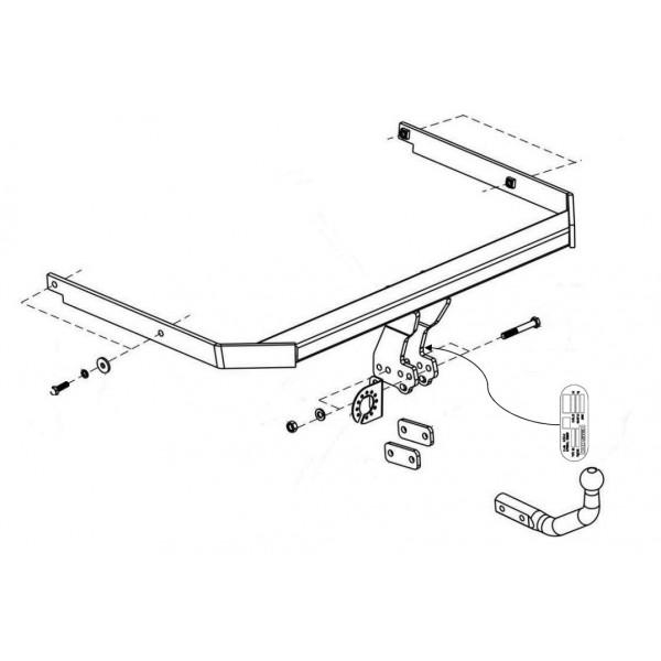 attelage ford c max col de cygne 22312. Black Bedroom Furniture Sets. Home Design Ideas