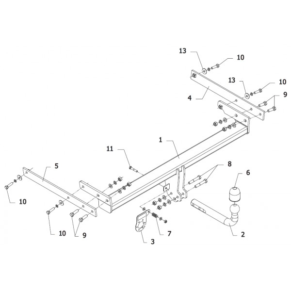 attelage ford kuga col de cygne 15825. Black Bedroom Furniture Sets. Home Design Ideas