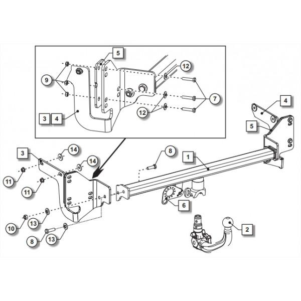 attelage citroen c4 picasso rdsov faisceau universel 7. Black Bedroom Furniture Sets. Home Design Ideas