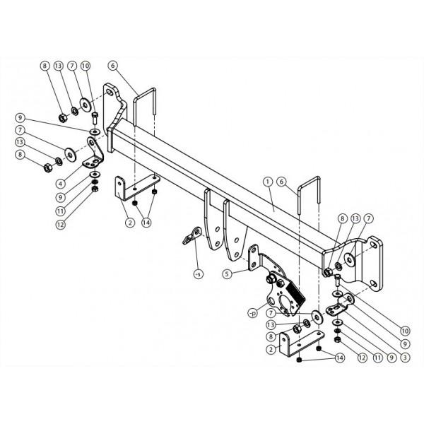 attelage bmw s rie 5 break rdsov 25165. Black Bedroom Furniture Sets. Home Design Ideas