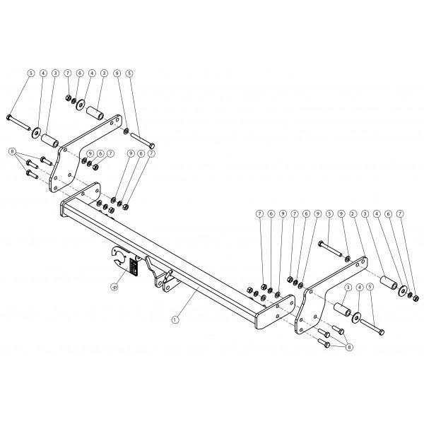 attelage dacia duster col de cygne faisceau universel multiplex 7 broches 25780. Black Bedroom Furniture Sets. Home Design Ideas