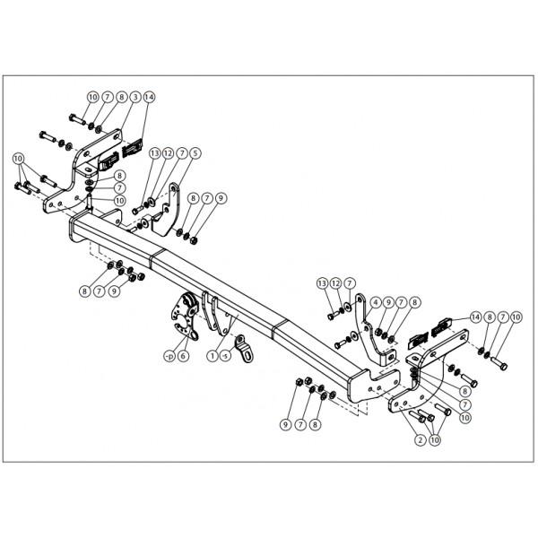 attelage citroen c3 aircross col de cygne faisceau universel multiplex 7 broches 25957. Black Bedroom Furniture Sets. Home Design Ideas